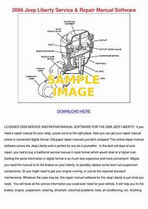 2006 Jeep Liberty Service Repair Manual Softw By