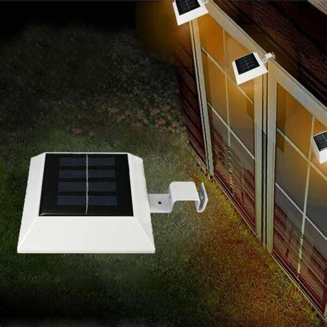 solar gutter lights solar powered 4 led fence gutter light outdoor yard wall