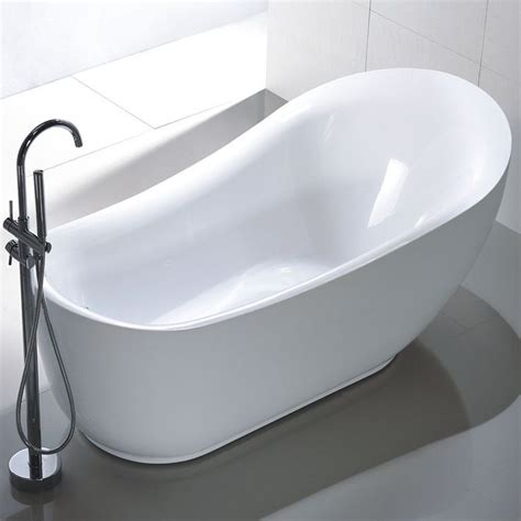 57 Inch Freestanding Tub by Vanity Freestanding 71 Inch Slipper Style White