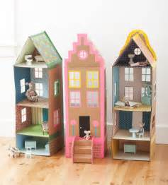 Doll House Blueprints Ideas by Cardboard Brownstone Dollhouses From Playful Mer Mag
