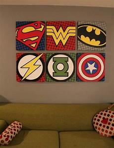 Superhero wall art bedroom pinterest for Superhero wall art