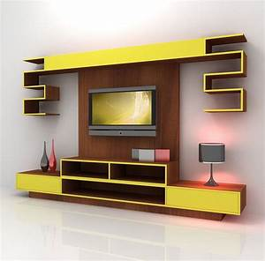 Wall mount tv furniture design home combo for Wall furniture design