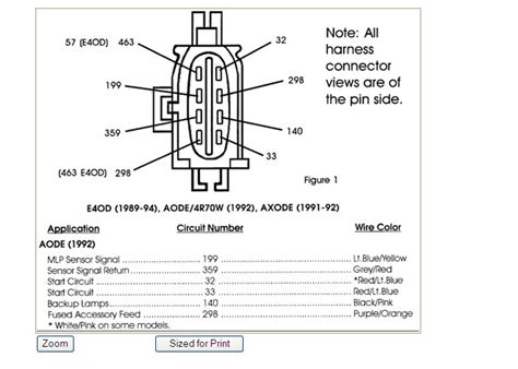 1989 Ford E40d Wiring Diagram by Ford E40d Transmission Manual