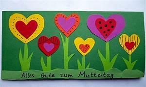 Vatertag Basteln Grundschule : muttertagskarte mit herzen muttertag basteln meine enkel und ich made with ~ Frokenaadalensverden.com Haus und Dekorationen