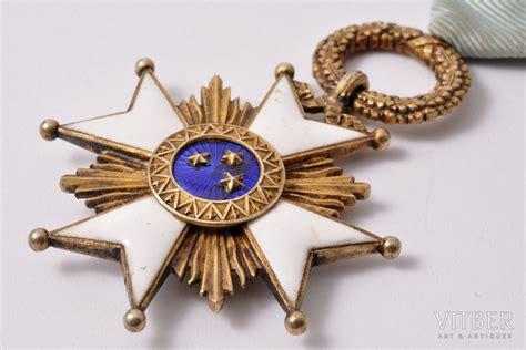 Ordenis, Triju Zvaigžņu ordenis, 5. pakāpe, sudrabs, zeltījums, Latvija, 20.gs. 20-ie gadi, 56.8 ...