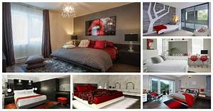 Wonderful, Red, And, Grey, Combos, To, Incorporate, In, The, Bedroom
