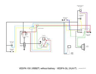 vespa gl wiring diagram scooter battery wire diagram