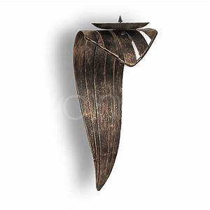 Kerzenhalter Schwarz Metall : geschwungener wand kerzenhalter aus metall 35 cm schwarz mit gold patiniert ebay ~ Sanjose-hotels-ca.com Haus und Dekorationen