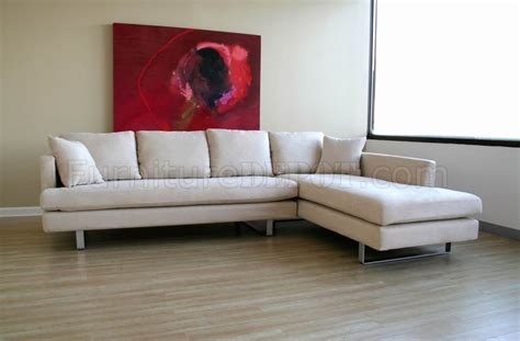 Contemporary Microfiber Sectional Sofa by Contemporary Sectional Sofa In White Microfiber