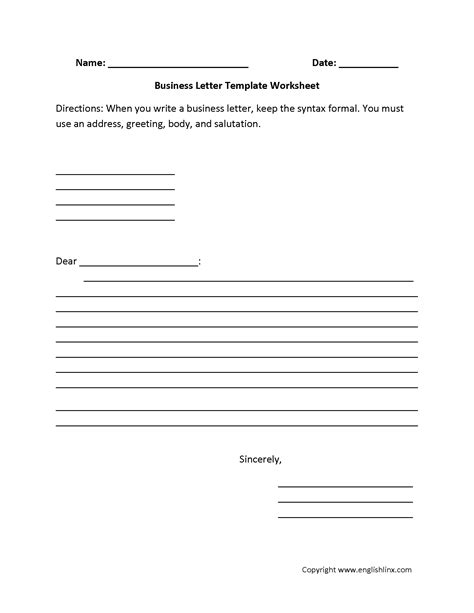 7th Grade Friendly Letter Template