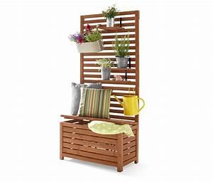 Sitzbank Für Balkon : 149 00 der sichtschutz mit sitzbank ist aus ge ltem tannenholz gefertigt und ebenso ~ Buech-reservation.com Haus und Dekorationen