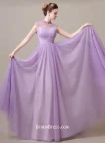 chiffon bridesmaid dresses 100 illusion high neck lavender chiffon a line bridesmaid dress groupdress