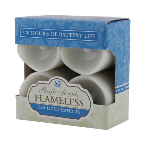 flameless tea lights with timer wholesale pacific accents flameless tea light candles with