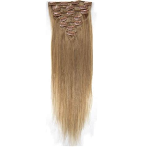 32 Inch Long Glossy Straight Clip In Remy Human Hair