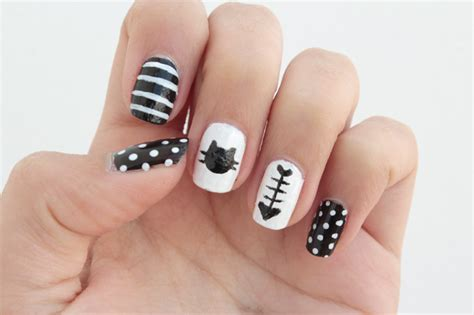 cat nail designs diy cat nails curly made