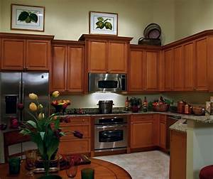 Maple Kitchen Cabinets in Medium Brown Finish - Kitchen Craft