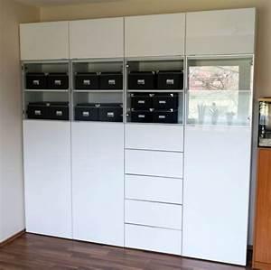 Ikea Boxen Regal : ikea besta regal kombination hochglanz wei in in essen ~ Articles-book.com Haus und Dekorationen