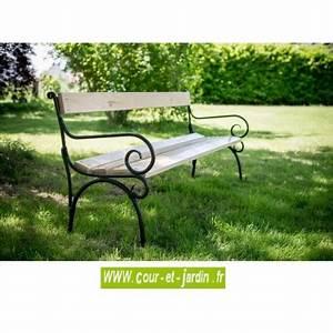Banc De Jardin Fer Forgé Et Bois. banc de jardin bois et fer forg 4 ...
