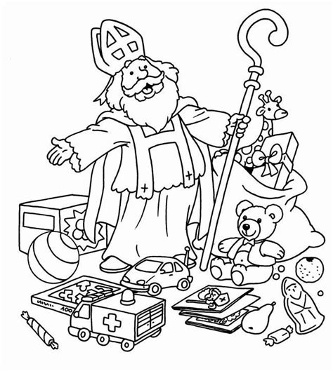 Kleurplaat Sinterklaas by Leuke Kleurplaten Om Te Kleuren Voor Sinterklaas