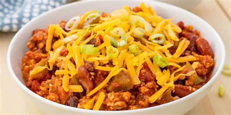 chili cuisine easy crockpot turkey chili recipe how to cooker chili delish com