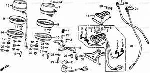 Honda Motorcycle 1981 Oem Parts Diagram For Speedometer