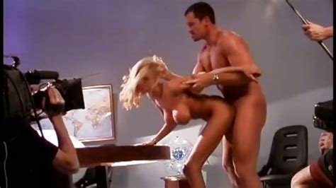 Briana Banks Bent Over A Desk Getting Her Juicy Fuck Hole