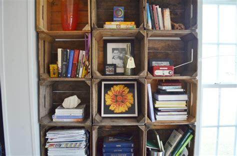 Bücherregal Aus Obstkisten by 18 Ideen F 252 R Eine Obstkisten Regal Originell Und