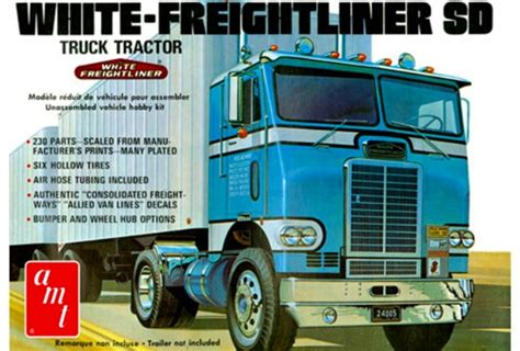 amt freightliner truck plastic scale tractor kit drive cabover single 1004 sd kits parts fs ertl axle