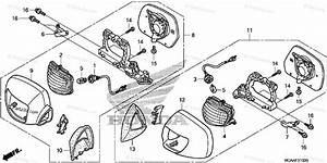 Honda Motorcycle 2008 Oem Parts Diagram For Turn Signal    Mirror