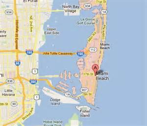 Miami Beach Florida Map