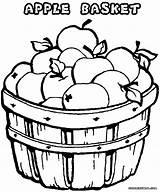 Apples Apple Coloring Pages Drawing Print Bucket Getdrawings sketch template