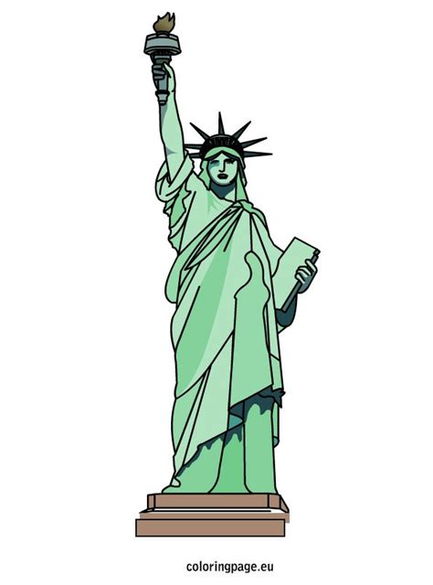 statue  liberty coloring page