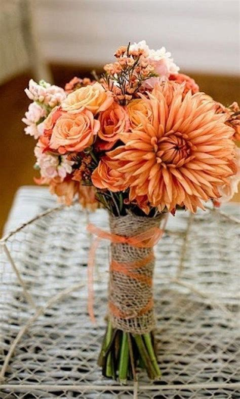 17 Best Ideas About Orange Wedding Bouquets On Pinterest