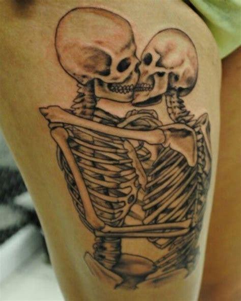 ideas  skeleton couple tattoo  pinterest