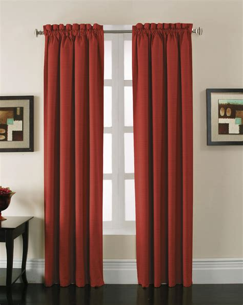 stockton red blackout panel enjoy complete privacy in