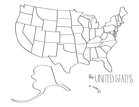learn  draw  united states blob map style simple