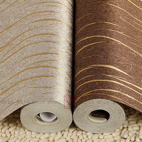 buy gold stripe silver foil pvc wall