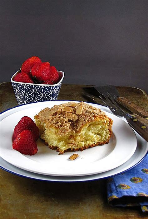 When fully combined, fold in almond flour, coconut flour, cinnamon, baking powder, baking soda, and salt from the muffin ingredients.; Almond Streusel Coffee Cake   Recipe (With images ...
