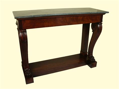 console table with bench robert morrissey antiques fine charles x mahogany console
