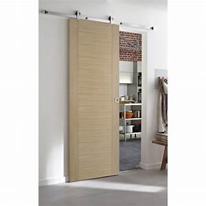 Porte Coulissante En Bois : porte coulissante chene maison design ~ Melissatoandfro.com Idées de Décoration