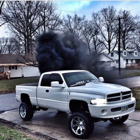 cummins truck rollin coal white dodge cummins rollin coal