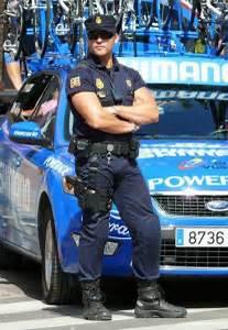 Peddy Cash Man Big Bulge Muscles Police Policeman