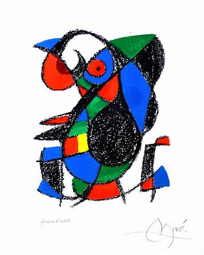 Joan Lithograph Lithographs Plate Miro Prints 1975