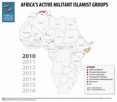Africa Militant Islamist Groups Activity Active Evolution