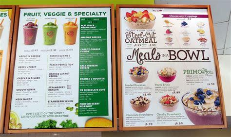 jamba juice menu babbletop