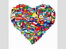 DDC 0017 World Flags In Heart Shape Flags Pinterest