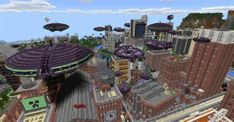 alien invasion add  map  minecraft pe map