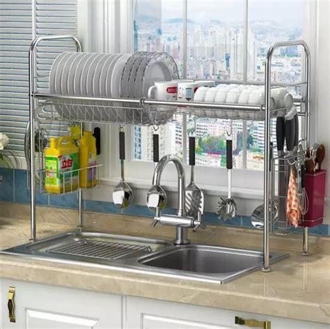 estante  platos de acero inoxidable fregadero de drenaje rack cocina rack sumini