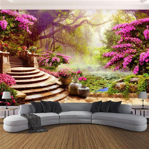 european style romantic forest landscape nature wallpaper