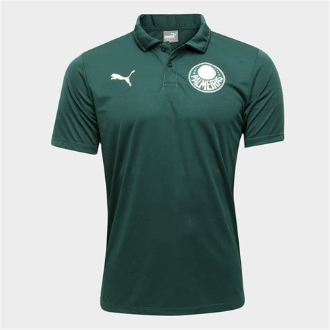 Camisa Polo Palmeiras Viagem 20/21 Puma Masculina - Verde ...
